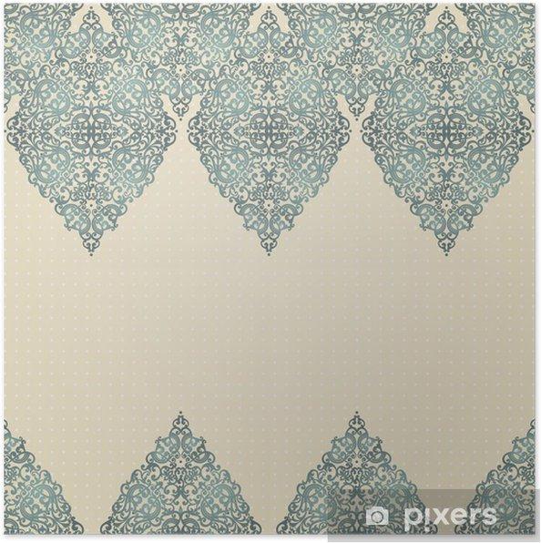 Póster Vintage seamless border with lacy ornament. - Estilos