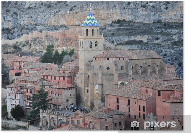 Poster Albarracin köyü - Avrupa