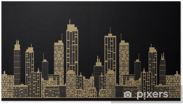 Altın şehir Arka Plan Poster Pixers Haydi Dünyanızı Değiştirelim