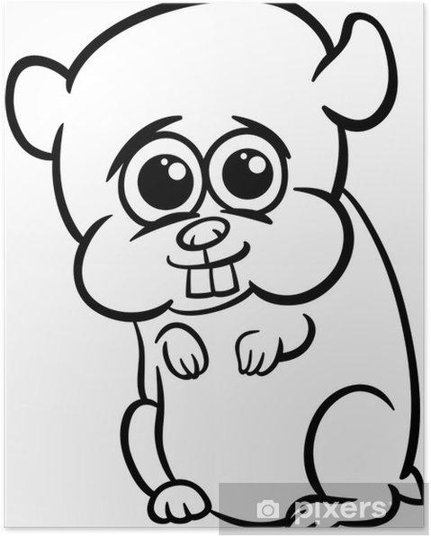 Bebek Hamster Karikatür Boyama Poster Pixers Haydi Dünyanızı