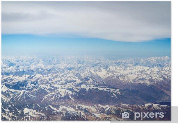 Poster Berge des Himalaya, Luftaufnahme -