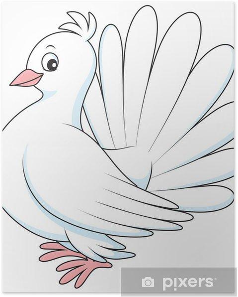 Beyaz Güvercin Poster Pixers Haydi Dünyanızı Değiştirelim