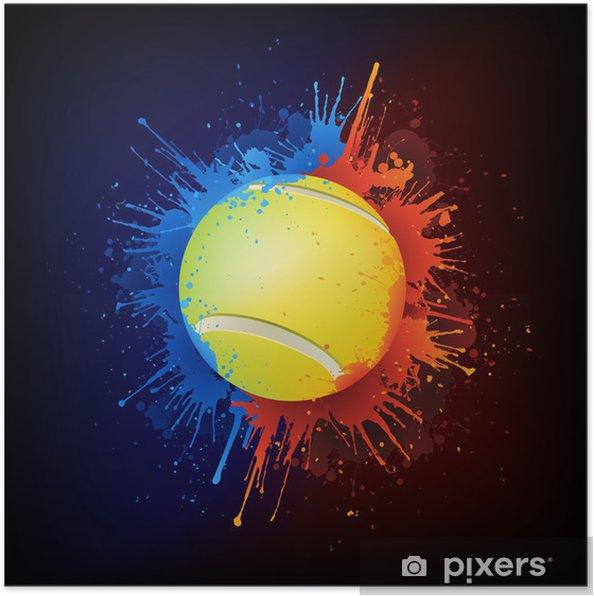 Boya Tenis Topu Poster Pixers Haydi Dunyanizi Degistirelim
