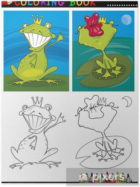 Boyama Fantezi Kurbağa Prens Poster Pixers Haydi Dünyanızı