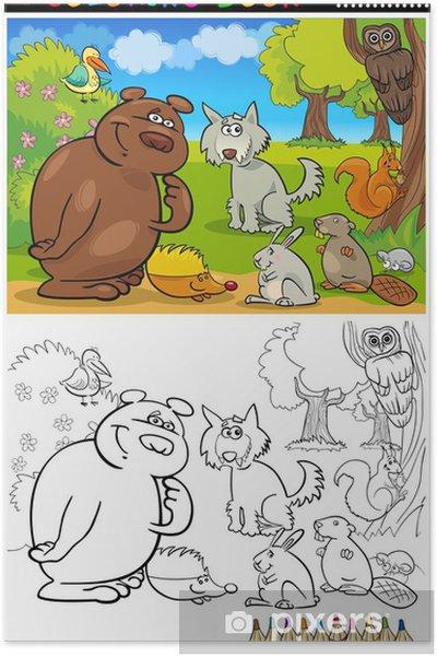 Boyama Icin Vahsi Hayvanlar Poster Pixers Haydi Dunyanizi