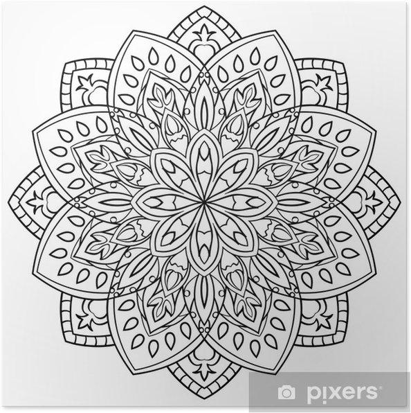 Boyama Kitabı Için Mandala Poster Pixers Haydi Dünyanızı