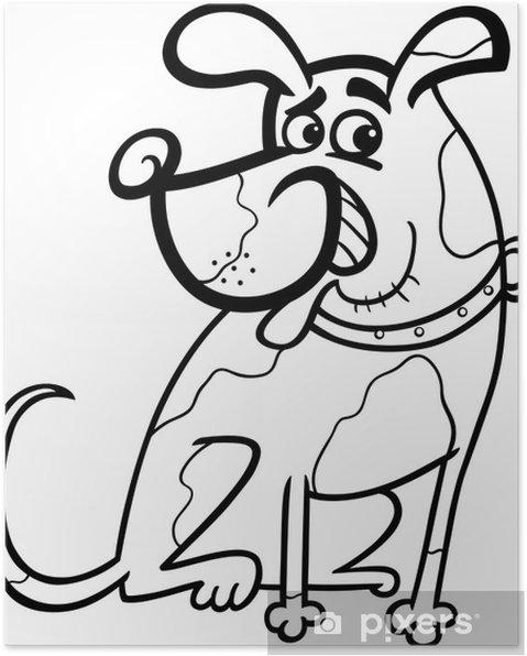 Boyama Köpek Karikatür Illüstrasyon Poster Pixers Haydi