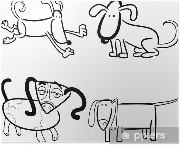Boyama Köpekler Ya Da Yavru Poster Pixers Haydi Dünyanızı