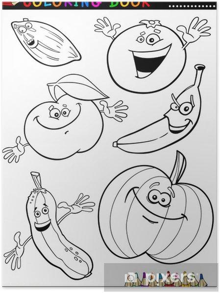 Boyama Meyve Ve Sebzeler Poster Pixers Haydi Dünyanızı Değiştirelim