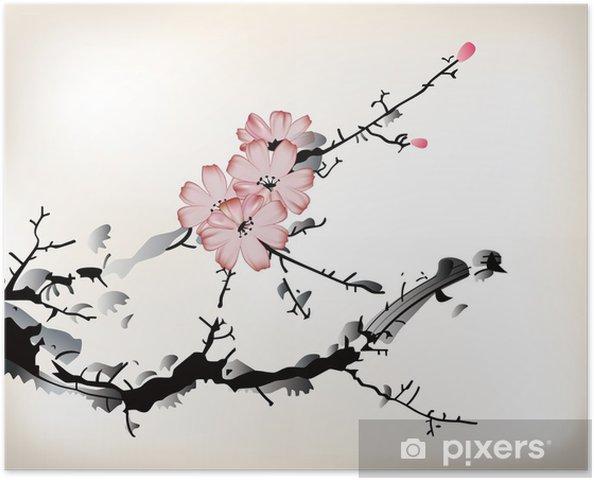 çiçek Boyama Poster Pixers Haydi Dünyanızı Değiştirelim