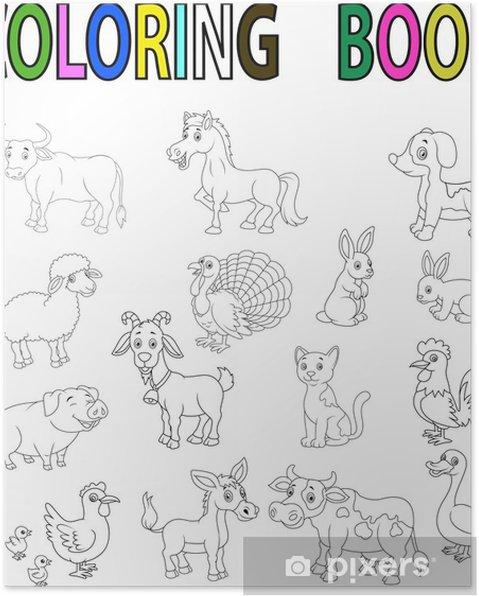 çiftlik Hayvanları Boyama Kitabı Poster Pixers Haydi Dünyanızı