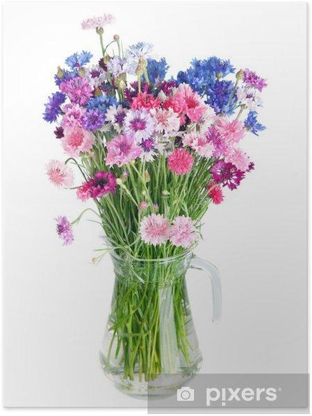 çok Güzel çok Renkli Peygamberçiçekleriyle çiçek Buket Poster