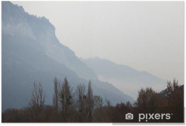 Poster Dağların üst - Mevsimler