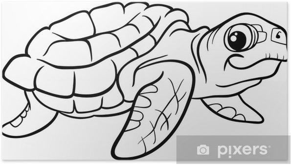 Deniz Kaplumbağa Boyama Kitabı Poster Pixers Haydi Dünyanızı