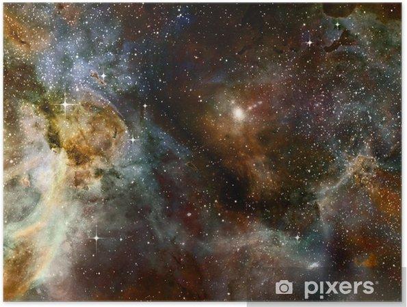 Poster Derin uzayda bulutsu gaz bulutu - Yıldızlar