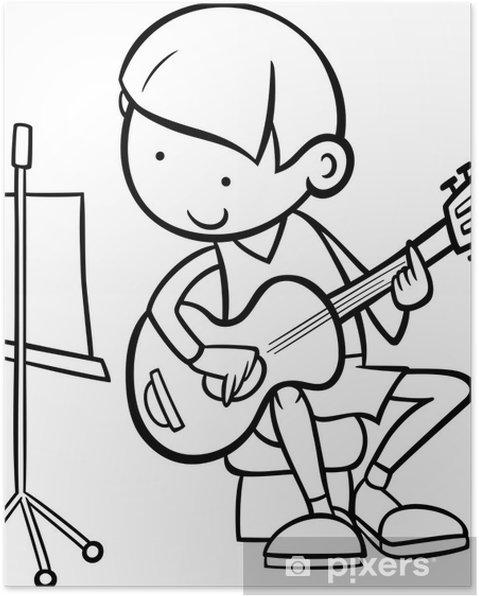 Gitar Boyama Ile çocuk Poster Pixers Haydi Dünyanızı Değiştirelim