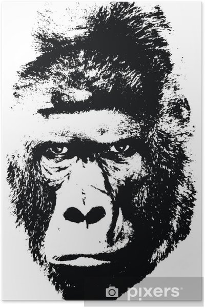 Goril Poster Pixers Haydi Dünyanızı Değiştirelim