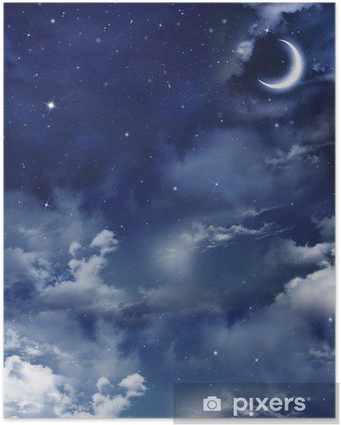 Güzel Arka Plan Gece Gökyüzü Poster Pixers Haydi Dünyanızı