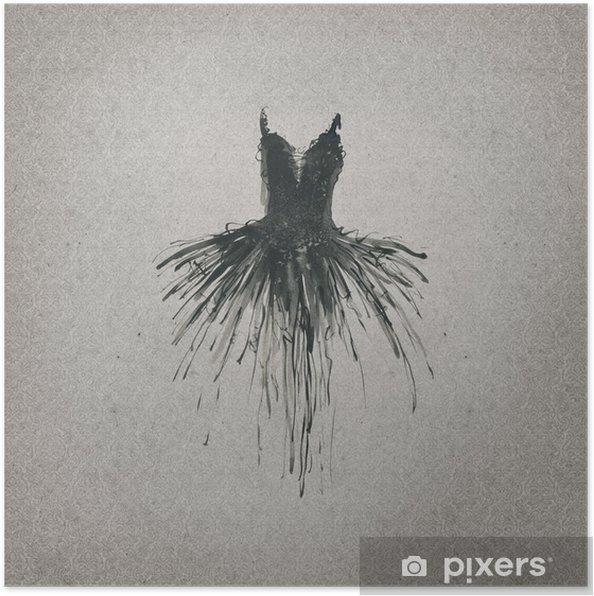 d31af66e777d6 Güzel elbise çizim Poster • Pixers® - Haydi dünyanızı değiştirelim