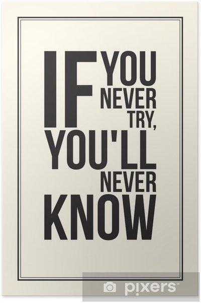 Poster İlham motivasyon posteri. Siyah ve beyaz -