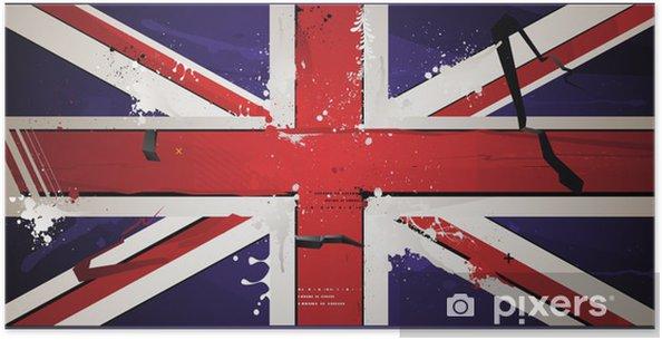 Ingiliz Bayrağı Boya Grunge Ile çizilir Poster Pixers Haydi