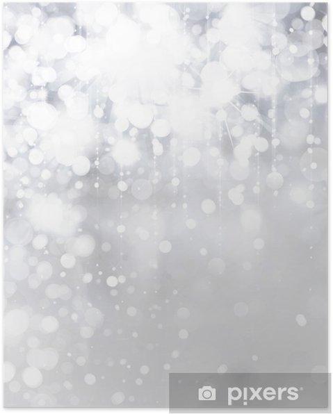 Işıklar Ve Gümüş Arka Plan üzerinde Yıldız Poster Pixers Haydi
