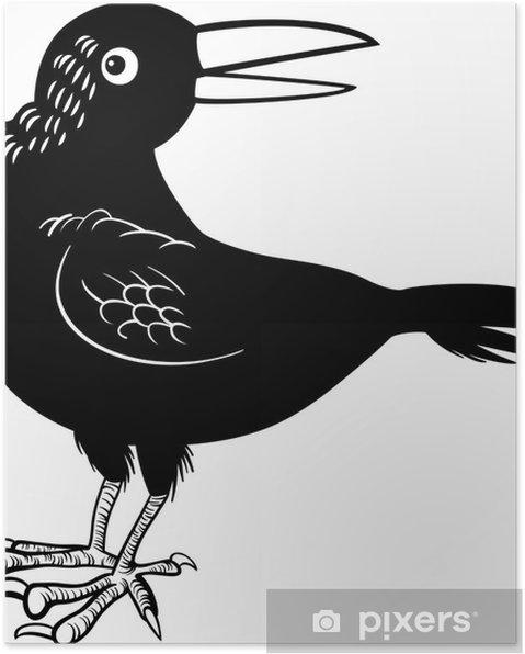 Karga Veya Kuzgun Kuş Boyama Poster Pixers Haydi Dünyanızı