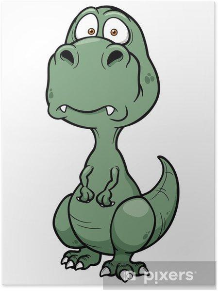 Karikatür Dinozor Vektör çizim Poster Pixers Haydi Dünyanızı