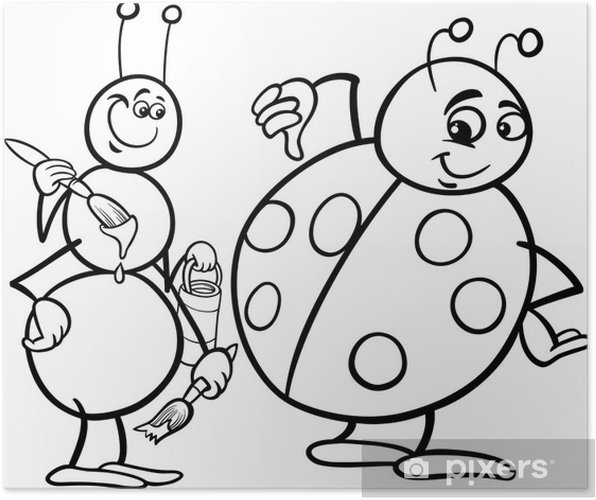Karınca Ve Uğur Böceği Boyama Poster Pixers Haydi Dünyanızı