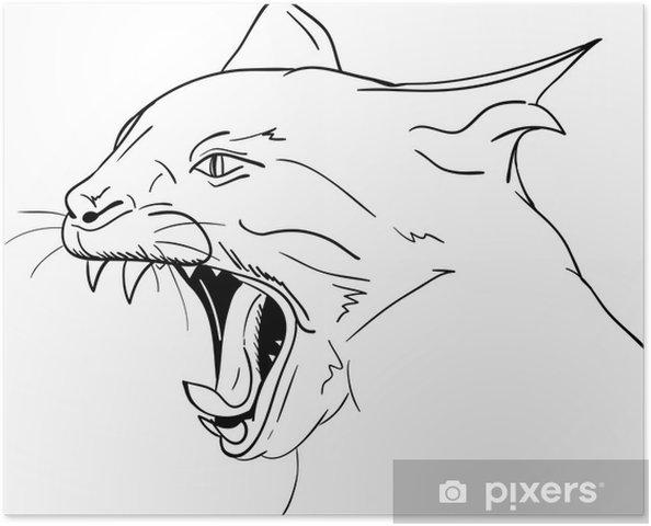 Kedi Kafası Poster Pixers Haydi Dünyanızı Değiştirelim