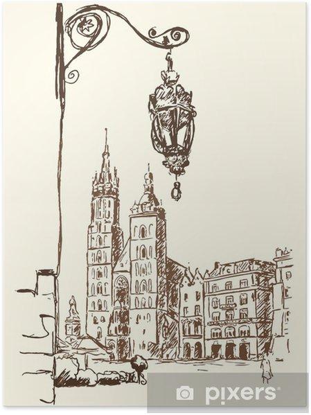 Poster Krakau Rynek -