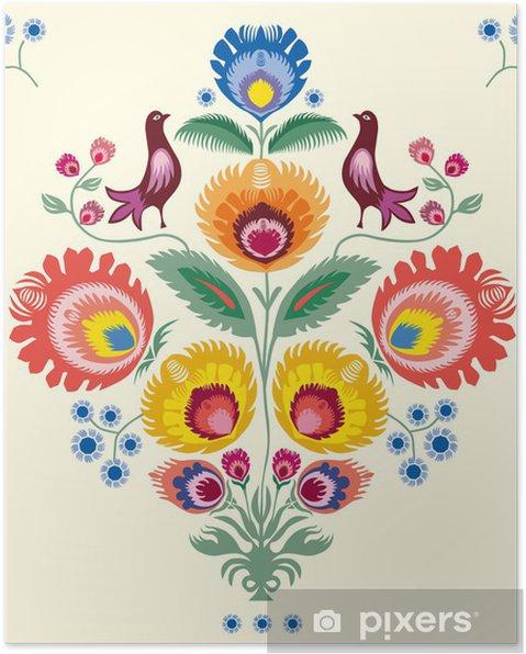Poster Kwiaty lowickie -