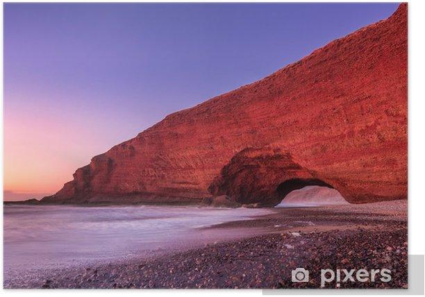 Poster Legzira plaj kırmızı kemerler - Manzaralar