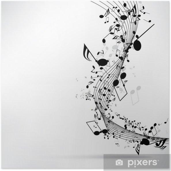Notları Ile Soyut Müzik Arka Plan Poster Pixers Haydi Dünyanızı