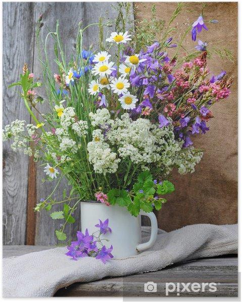 Parlak Kır çiçekleri Güzel Buket Poster Pixers Haydi Dünyanızı