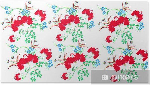 Petrikov Halk Boyama çiçek Deseni Poster Pixers Haydi
