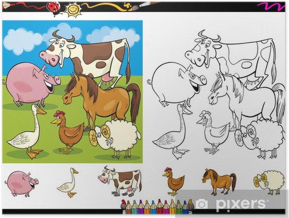 Sayfa Grubunu Boyama Ciftlik Hayvanlari Poster Pixers Haydi