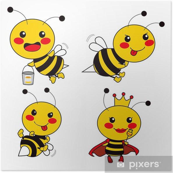 Sevimli Arı Poster Pixers Haydi Dünyanızı Değiştirelim