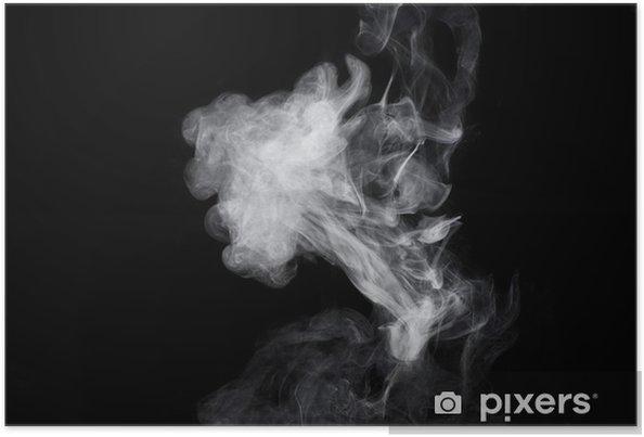 Poster Siyah zemin üzerine beyaz duman. İzole. - Duman