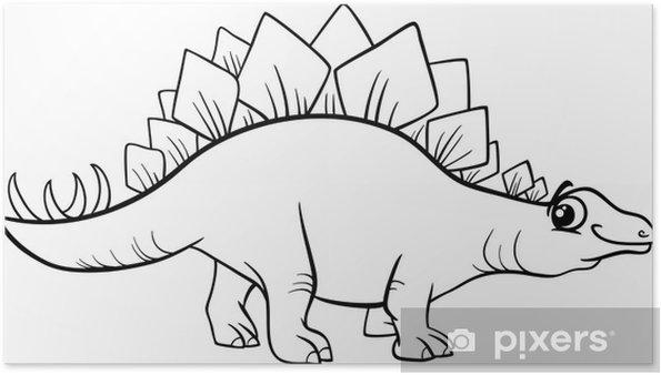 Stegosaurus Dinozor Boyama Poster Pixers Haydi Dünyanızı