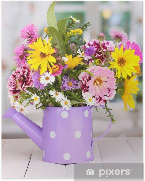 Sulama Parlak çiçekler Güzel Buket Can Poster Pixers Haydi