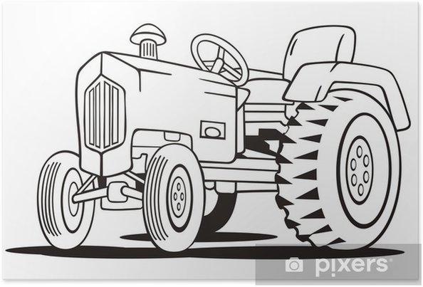 Traktör Boyama şablon Poster Pixers Haydi Dünyanızı Değiştirelim
