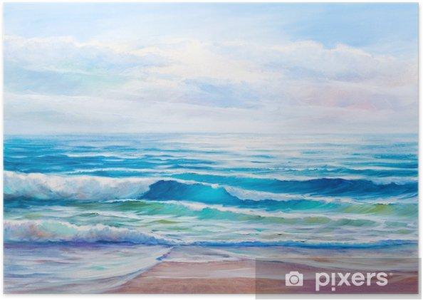 Poster Tuval üzerine Deniz Yağlı Boya
