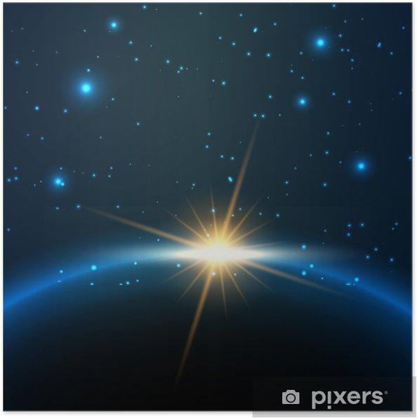 Uzay Arka Plan Poster Pixers Haydi Dünyanızı Değiştirelim