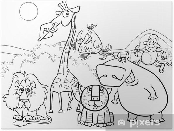 Vahşi Hayvanlar Grup Boyama Poster Pixers Haydi Dünyanızı