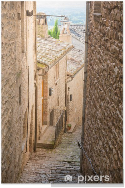 Poster Vicolo medievale - Avrupa