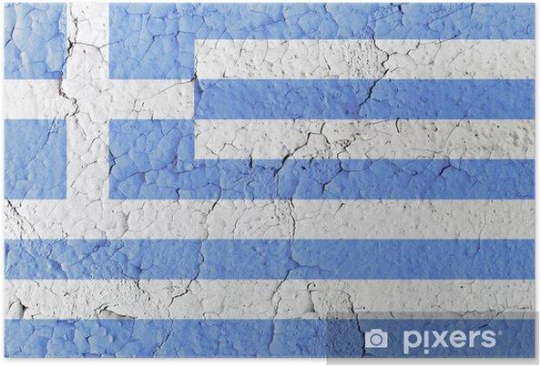 Vintage Boya Yunan Bayrağı Poster Pixers Haydi Dünyanızı