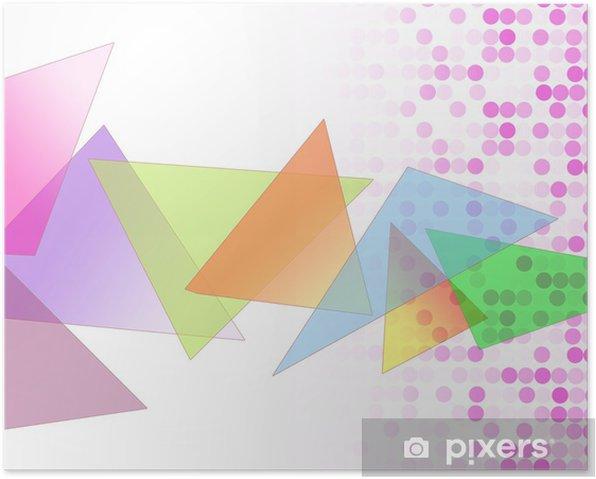 Poster 三角 図 形 模 様 - Abstrait