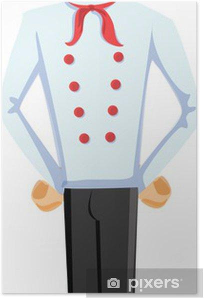 Мультипликационный персонаж - готовить Poster - People at Work