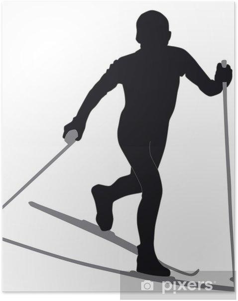 クロスカントリースキー Poster - Winter Sports